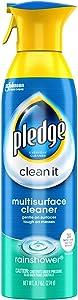 Pledge Multisurface Cleaner Aerosol, Rainshower, 9.7 oz