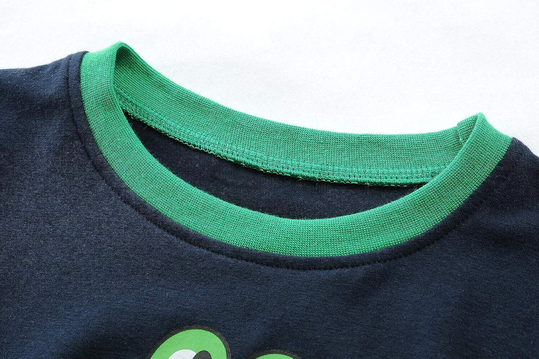 Runytek Toddler Boys Pajamas Dinosaur Short Sets Pjs Summer Clothes 100/% Cotton Sleepwear for Kids