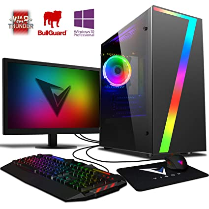 Vibox Pyro GS450-100 Gaming PC Ordenador de sobremesa con 2 Juegos Gratis, Win 10 Pro, 22