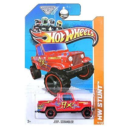 Amazon Com Hot Wheels 2013 Hw Stunt Jeep Scrambler Red Everything Else