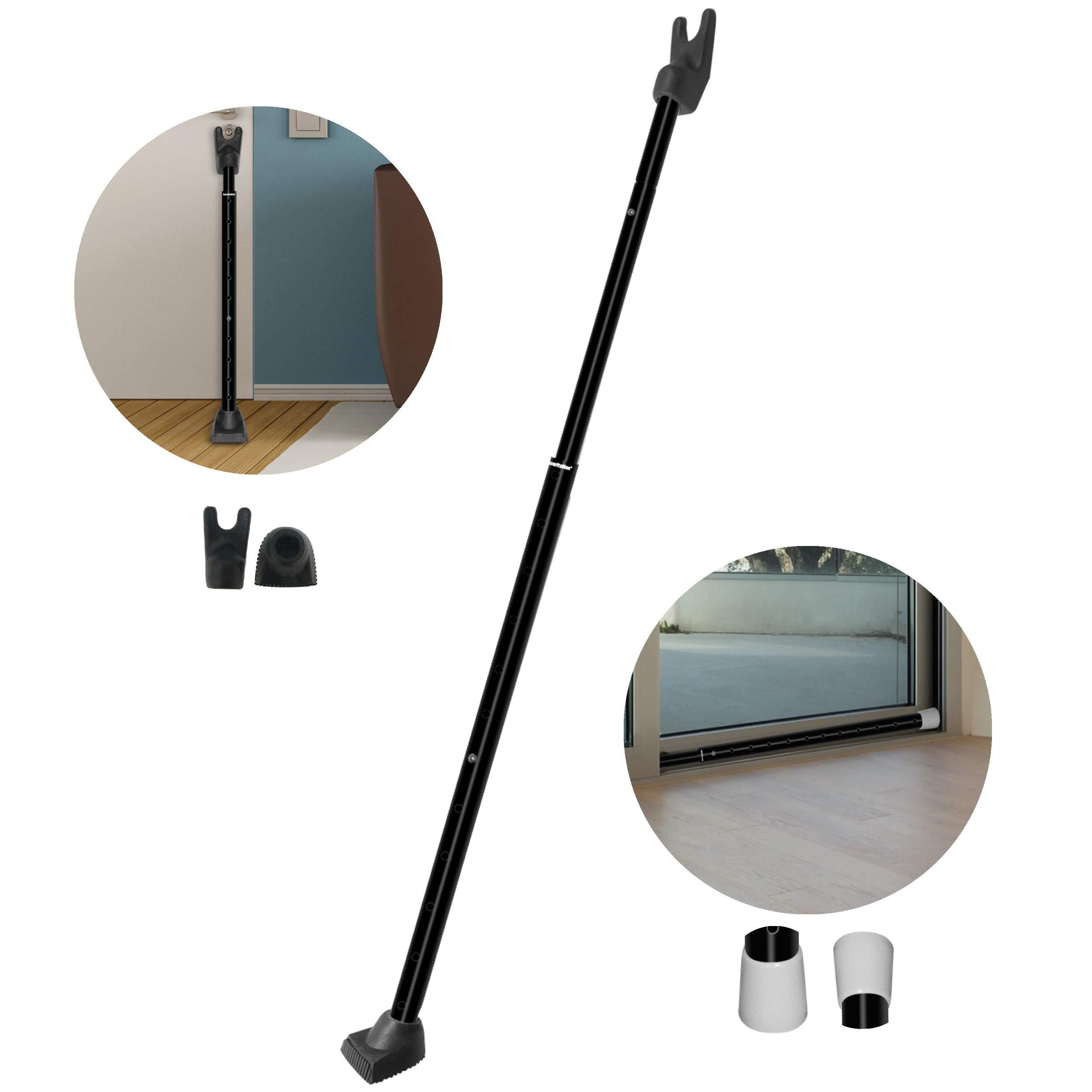 Details About Adjustable Sliding Door Security Bar Knob Jammer Lock Handle  Blocker Home Travel