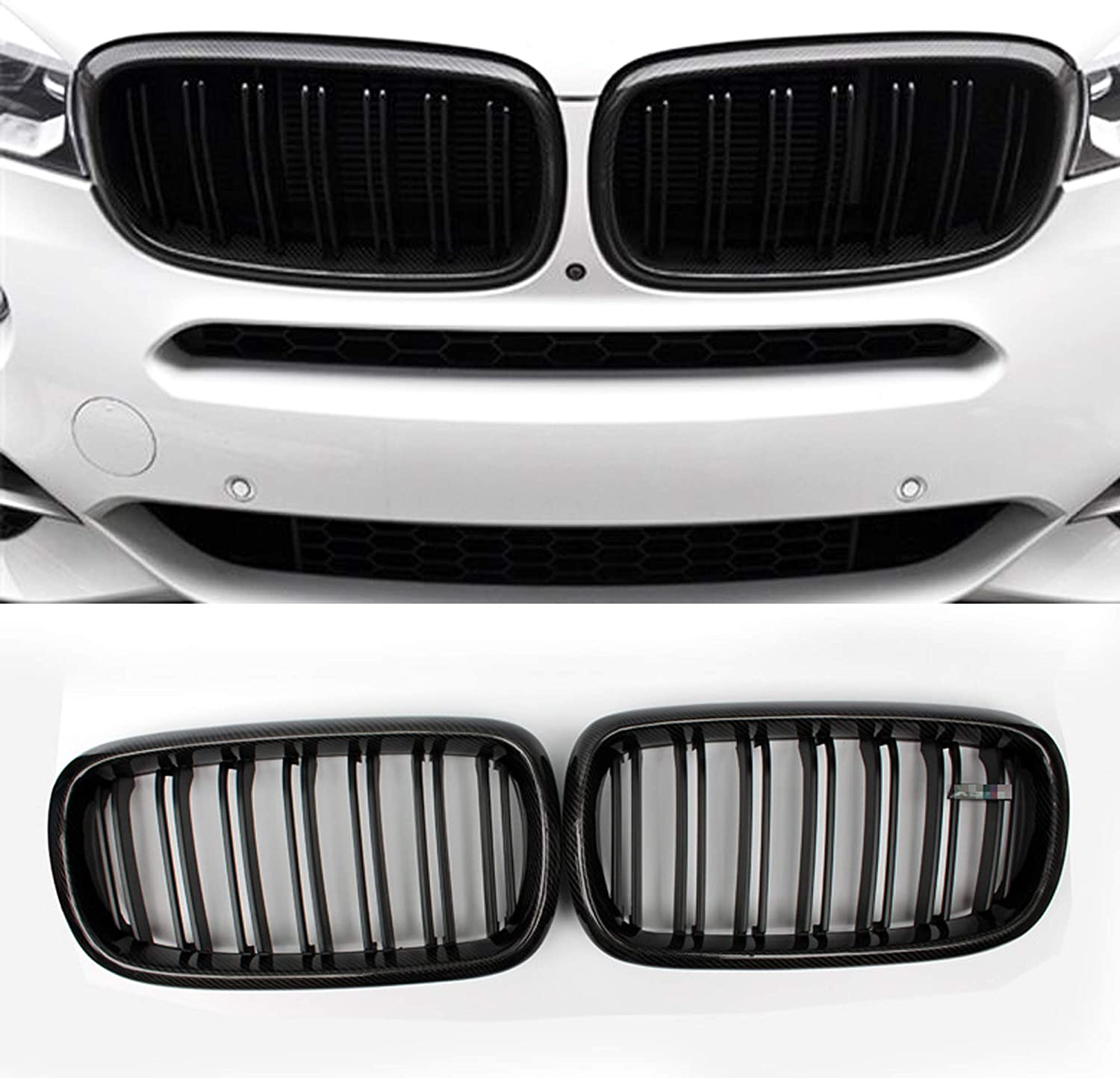 Carbon Fiber Front Replacement Kidney Grille Grill X5 Series F15 X6 Series F16 X5M F85 X6M F86 Black