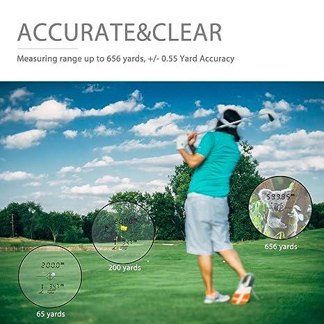 NATURALIFE telémetro láser, buscador de Rango Vertical Multifuncional para Golf, Caza, Actividades al Aire Libre, Rango de 600 Metros