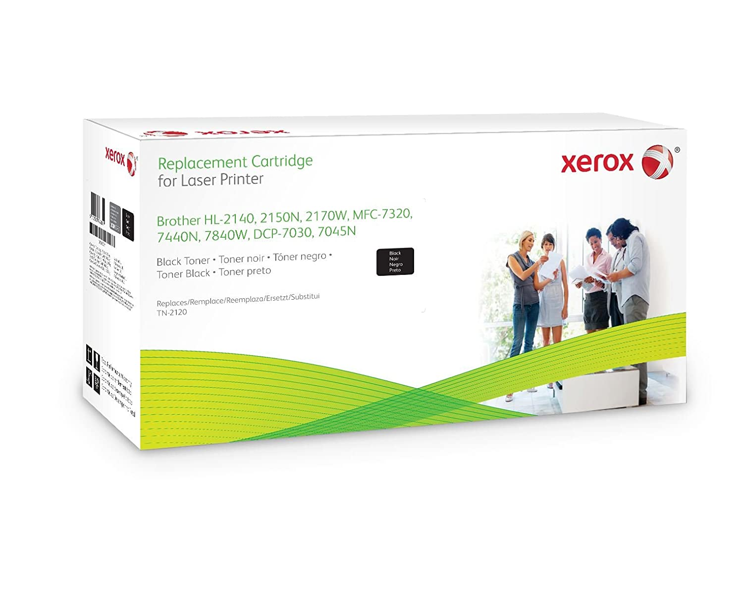 Xerox TN2120 Brother HL Black Toner Cartridge equivalent, for use in