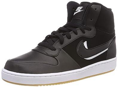 innovative design db5e4 c1f4a Nike Men s s Ebernon Mid Premium Hi-Top Trainers Black-White-Gum Light Brown