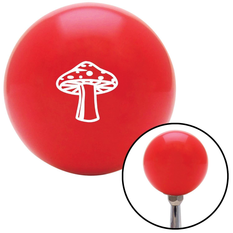 White Mushroom American Shifter 98818 Red Shift Knob with M16 x 1.5 Insert