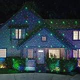 Star Night Laser Shower Christmas Lights (Red/Green Dancing Lights)
