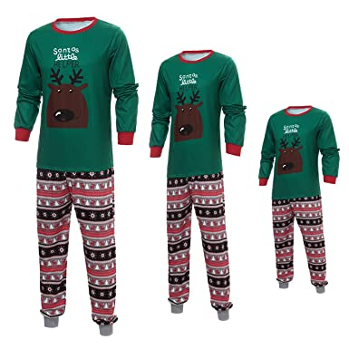 Amazon.com  Christmas Santa Little Deer Family Matching Pajamas Set ... f69b589f0