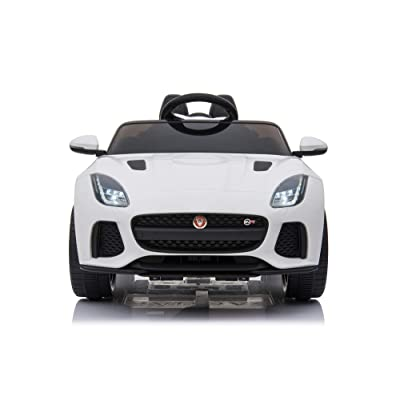 TAMCO Ride On Car, Jaguar F-Type SVR Convertible Electric Car, 2.4G Remote Control, MP3 Music Playing, Max Load 66LB (White): Toys & Games