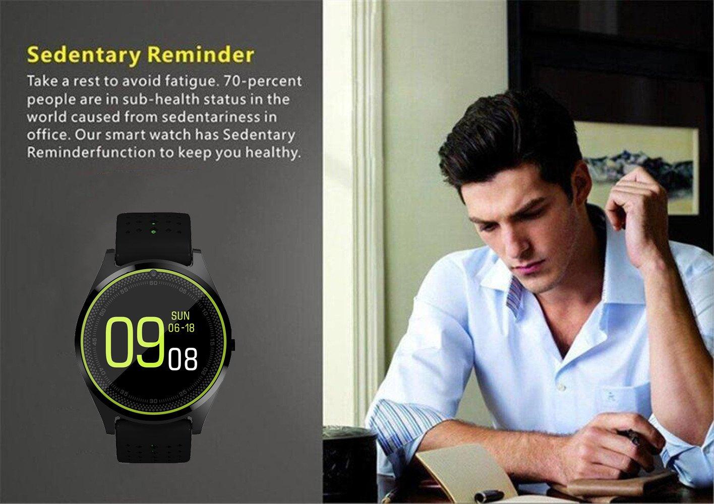 AIYIBEN 1,22-Inch V9 Smart Watch, Ultra-Delgada táctil Reloj ...
