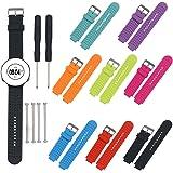 Garmin Forerunner Bands, BeneStellar 8-Pack Replacement Sport Colourful Bands for Garmin Forerunner 230 / 235 / 630 / 220 / 620 / 735 GPS Golf Watch
