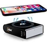 [Qi Wireless Charger + Qualcomm QC3.0 Power Bank] CVIDA 10000mAh Wireless Power Bank 3-Port Portable Charger External Battery Pack with USB-C Input & Output for iPhone 8/8 Plus, iPhone X, Galaxy S8