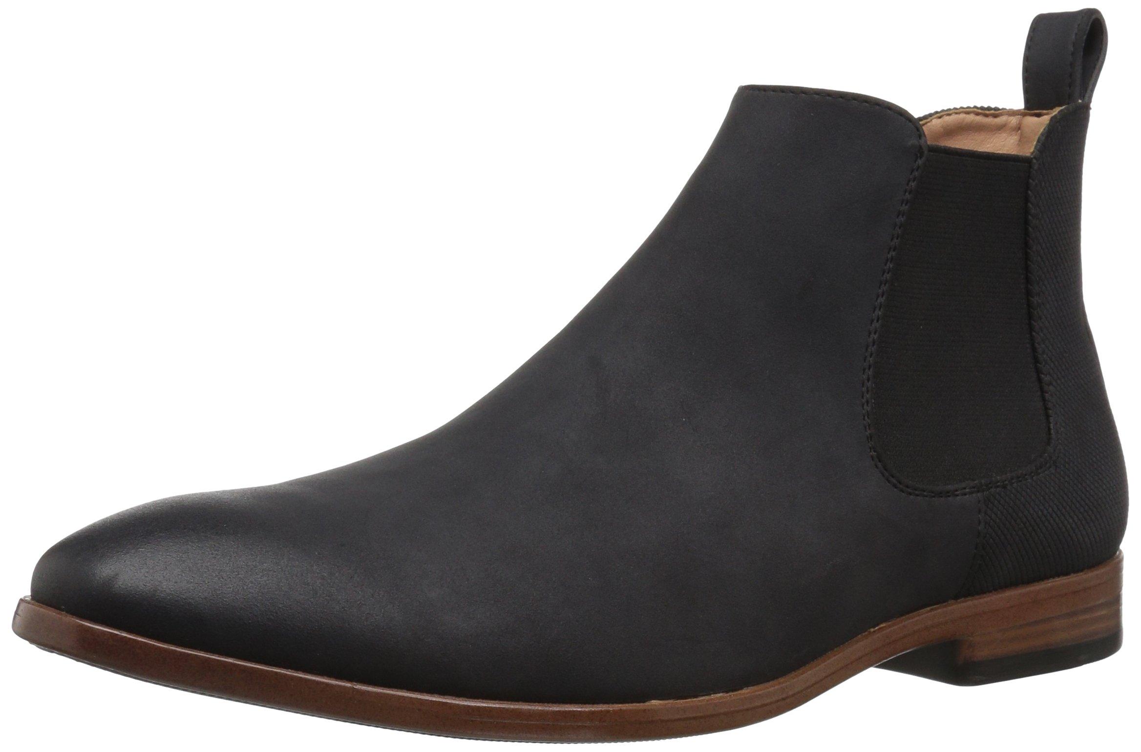 Madden Men's M-Grasp Chelsea Boot, Black Suede, 11 M US