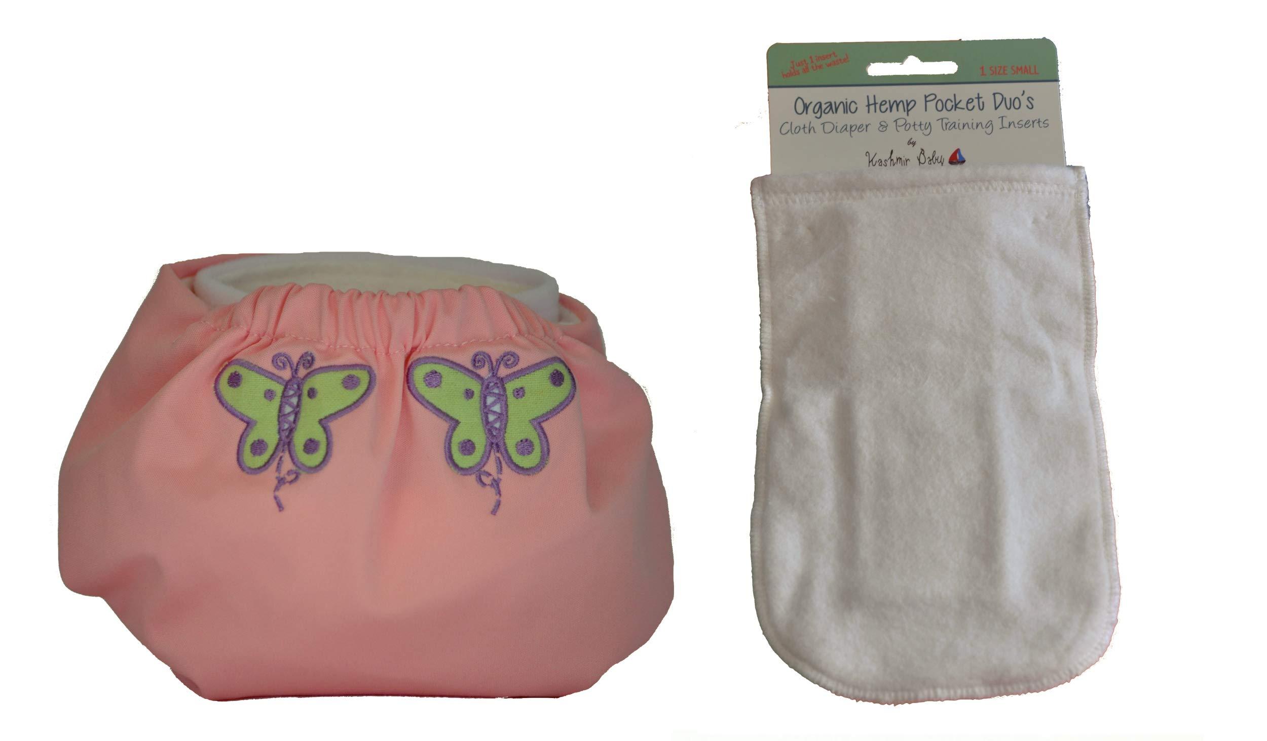Kashmir Baby Hemp/Organic One Size Diaper, Hemp Insert (Butterfly Kiss) by Kashmir Baby