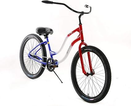 BLUE STITCHING Custom Beach Cruiser Comfortable Bicycle Seat