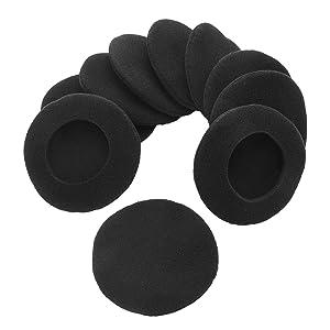 Sunmns 5 Pairs Foam Earpads Ear Pad Cushion Cover for Sony MDR-IF240R, MDR-NC6/ Plantronics PLNAUDIO478/ Logitech H600 Headphone, 2-5/16 Inch