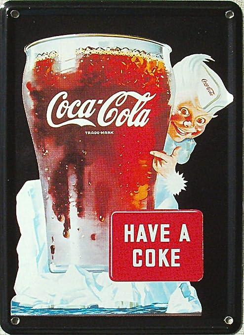 Mini de cartel de chapa Coca Cola - HAVE A Coca Cola, 8 x 11 ...