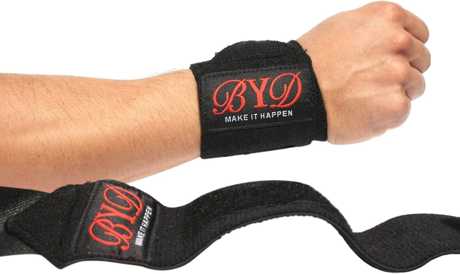 Strong Velcro Cross fit Gym Protection Heavy Duty Thumb Loops Avoid Injury And Protect Your Wrist /& Hands Wrist Support Wrap Pair Of Two 12 for Weight Training Powerlifting Bodybuilding