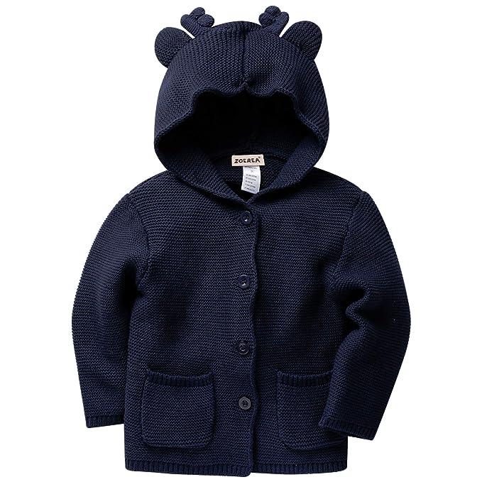 086d362957 Zoerea Bambino maglia Cardigan Maglione Alce orecchio Felpe con cappuccio  Manica lunga Cappotto: Amazon.it: Abbigliamento