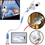 Soporte universal para cámara de bebé FlexxiCam, soporte para monitor de vídeo infantil y estante, soporte flexible para cámara de la habitación del bebé compatible con la mayoría de monitores de bebé