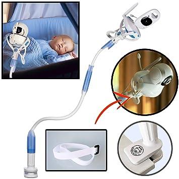Soporte universal para cámara de bebé FlexxiCam, soporte para monitor de vídeo infantil y estante