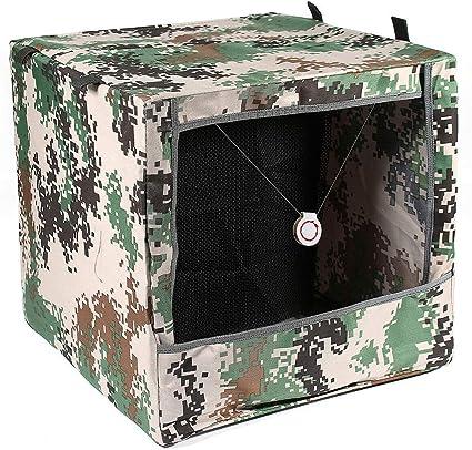 Zchui Caja de Tiro Plegable, portátil, de Camuflaje, portátil, para Reciclar municiones, Tiro con Arco y catapulta, tamaño Free Size: Amazon.es: Jardín