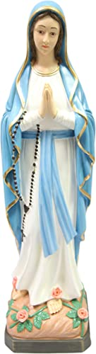32 Our Lady of Lourdes Blessed Virgin Mary Statue Sculpture Figure Vittoria Collection Made in Italy Indoor Outdoor Garden