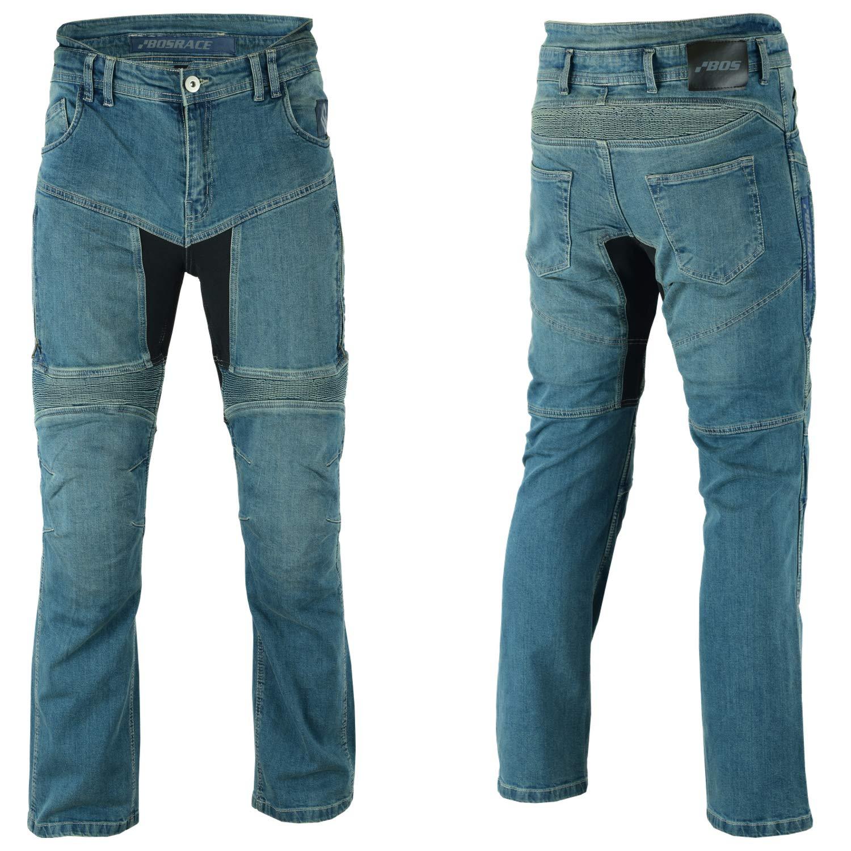 Cargo Schwarz 34 Jeans Kevlar/® BOSmoto Motorradhose Aramid Mit Protektoren Herren