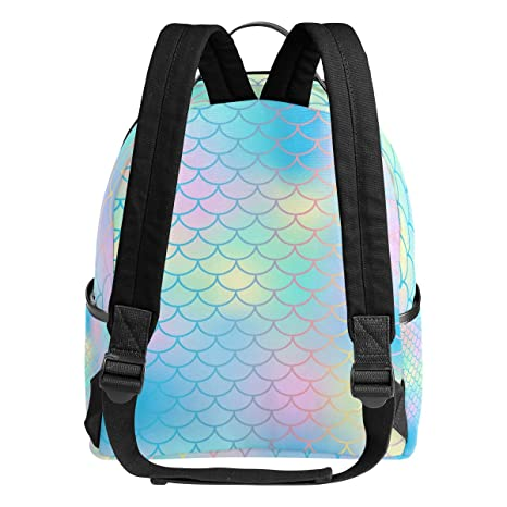 Amazon.com | My Daily Colorful Fish Scale Mermaid Tail Backpack for Boys Girls School Bookbag Daypack | Kids Backpacks