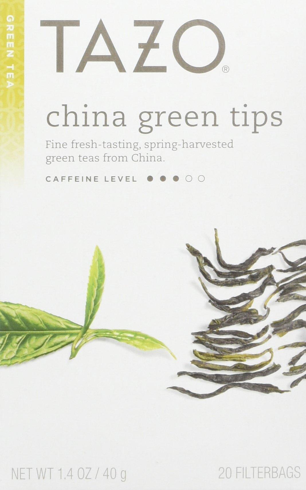 Tazo China Green Tips Green Tea, 20 Count (Pack of 6) by TAZO