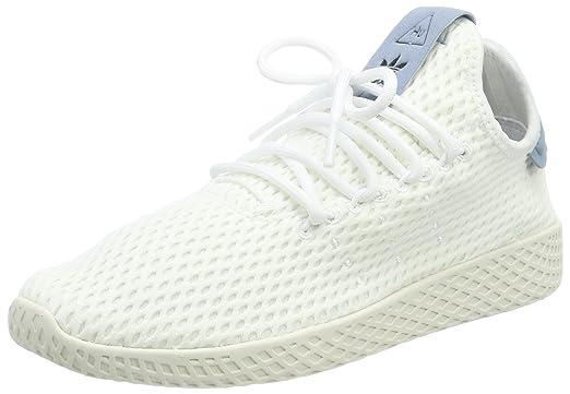 more photos 37413 15e81 Amazon.com  Adidas Pharrell Williams Tennis Hu Mens Sneakers White  Sports    Outdoors