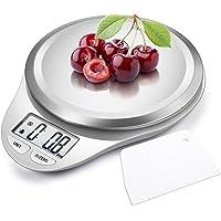 CAMRY Bilancia da cucina Digitale, Bilancia Elettronica ad Alta Precisione con Display LCD, Funzione di Tara, Acciaio Inossidabile, 5kg/11lb