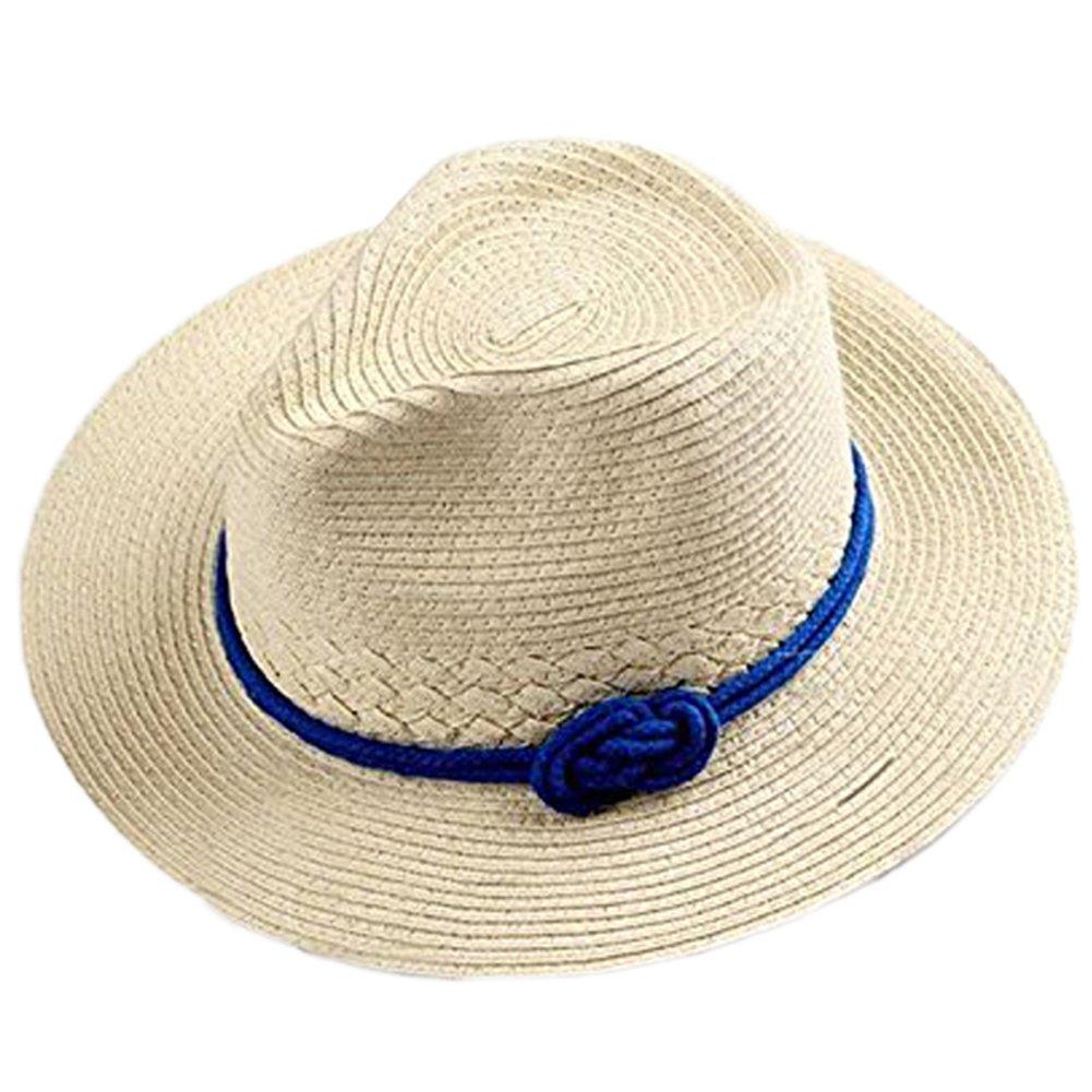 Hosaire Elegante y de Moda Sol Plegable Sombrero de ala Ancha de Paja con  Arco Sombrero de Playa de Verano Sombrero para Mujer  Amazon.es  Ropa y  accesorios a1d63f0fc1ba