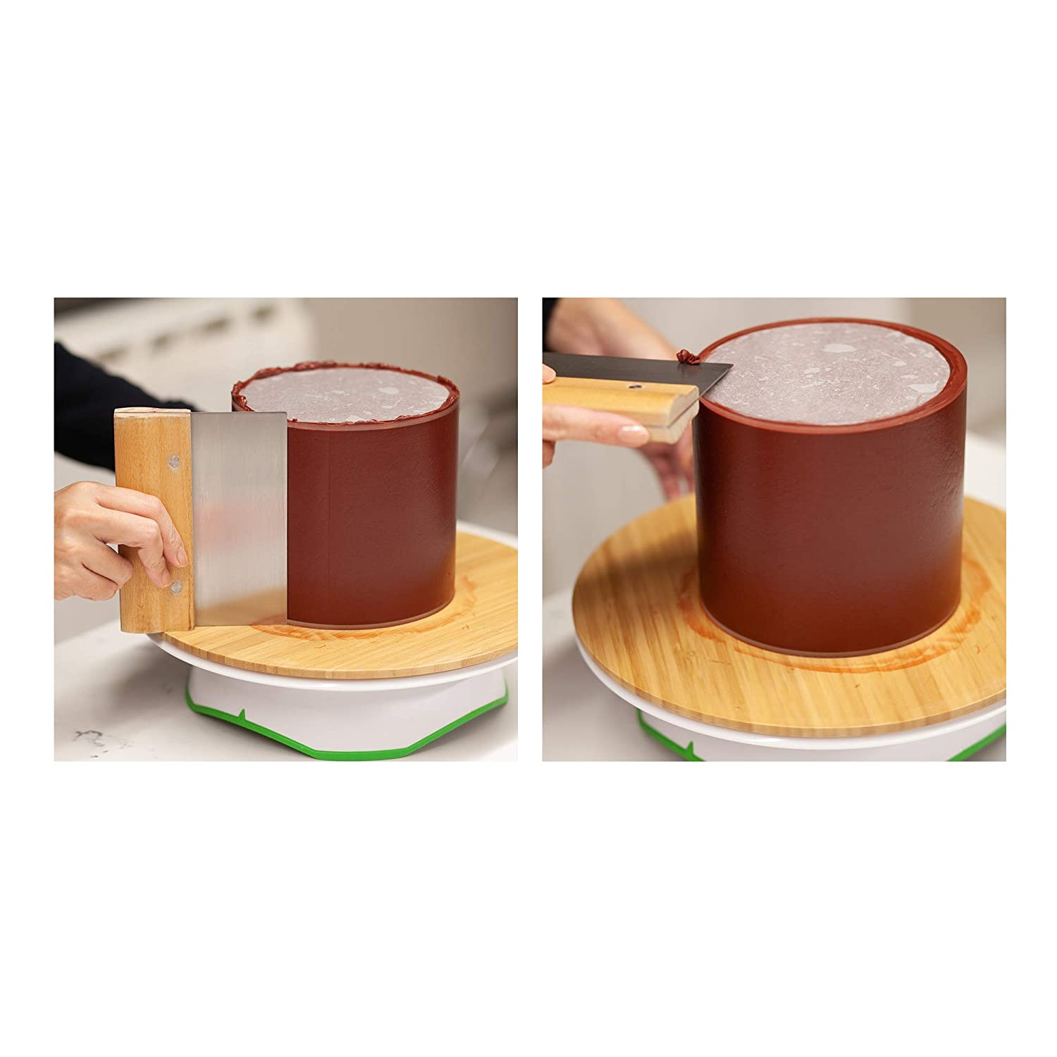 Great for Serving Bake Goods and Art Craft Project 6 Buttercream Acrylic Round Cake Disks Set of 2 0.18 or 3//16 thick