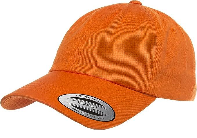 97b0f20ed27 Flexfit Men s 6245CM Low Profile Cotton Twill Dad Hat O S Orange ...