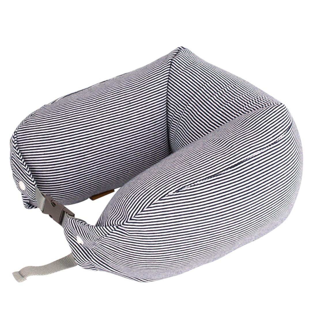 ソフトマイクロビーズ旅行の枕睡眠、昼寝、SquishyのU型首枕調節可能なストラップ付きHypoallergic Therapeuticの枕飛行機、車、トレイン、椅子ヘッドRest。 28*6 inches グレー  グレー B01M7SQJ0A