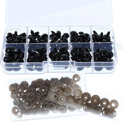 20 piezas de Ojos de Muñeca de Plástico para juguetes de peluche animal oso de peluche de accesorios de bricolaje artesanías