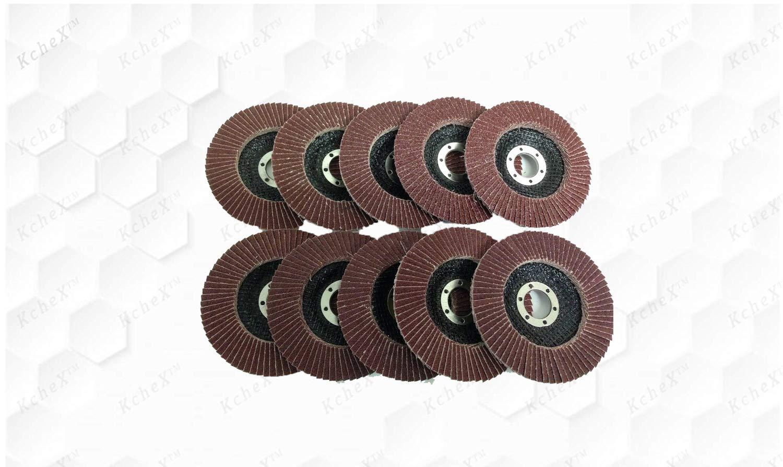 KCHEX_10pc 60 Grit Flap Sanding Grinding Disc