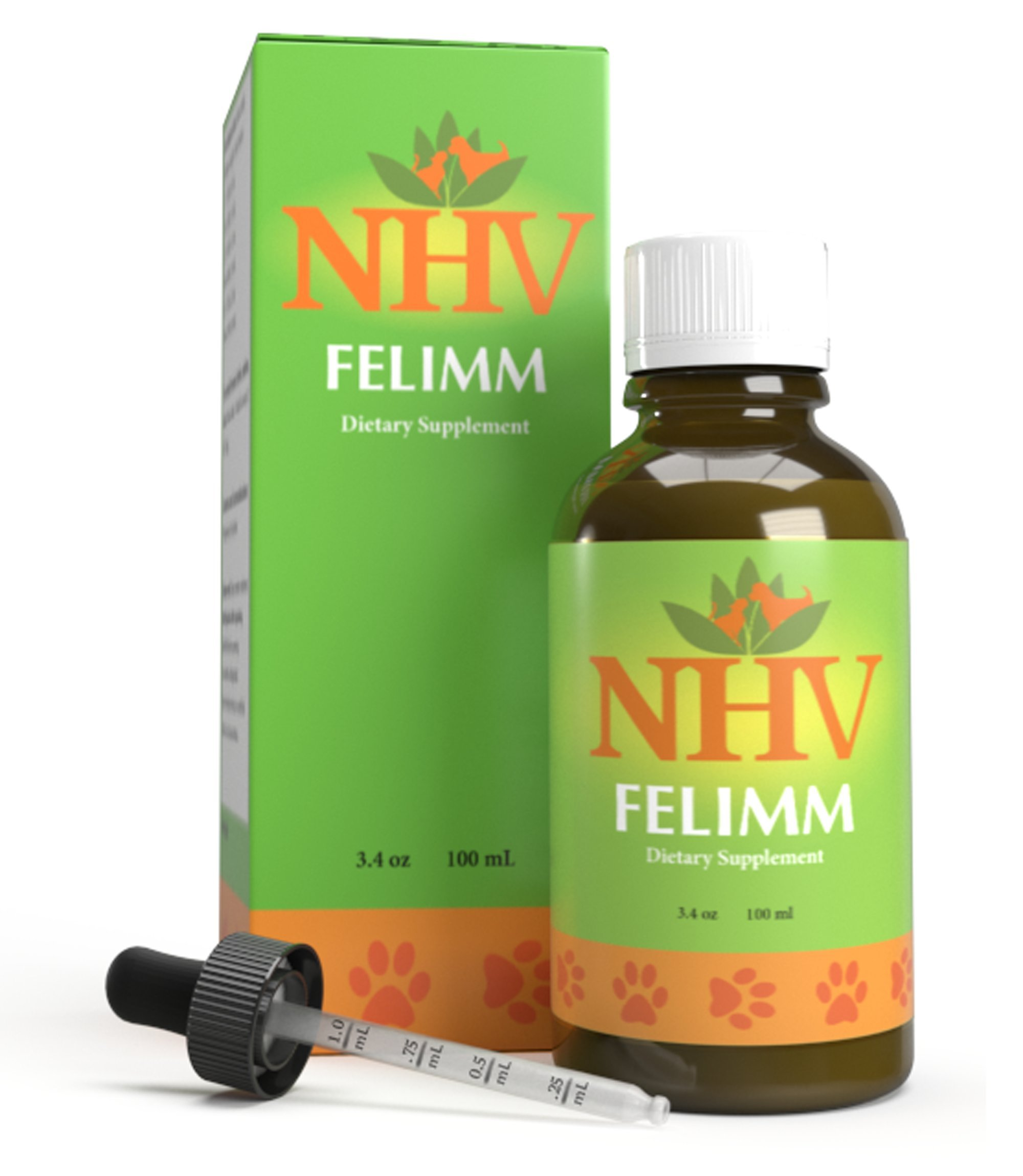 NHV Felimm - Natural Herbal Support That Helps Pets With Feline Leukemia Virus (FeLV), FIP, FIV and Canine Herpes Virus by NHV