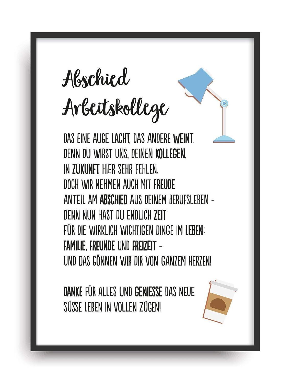 Geschenk Karte Abschied Arbeitskollege Kunstdruck Job Berufsleben