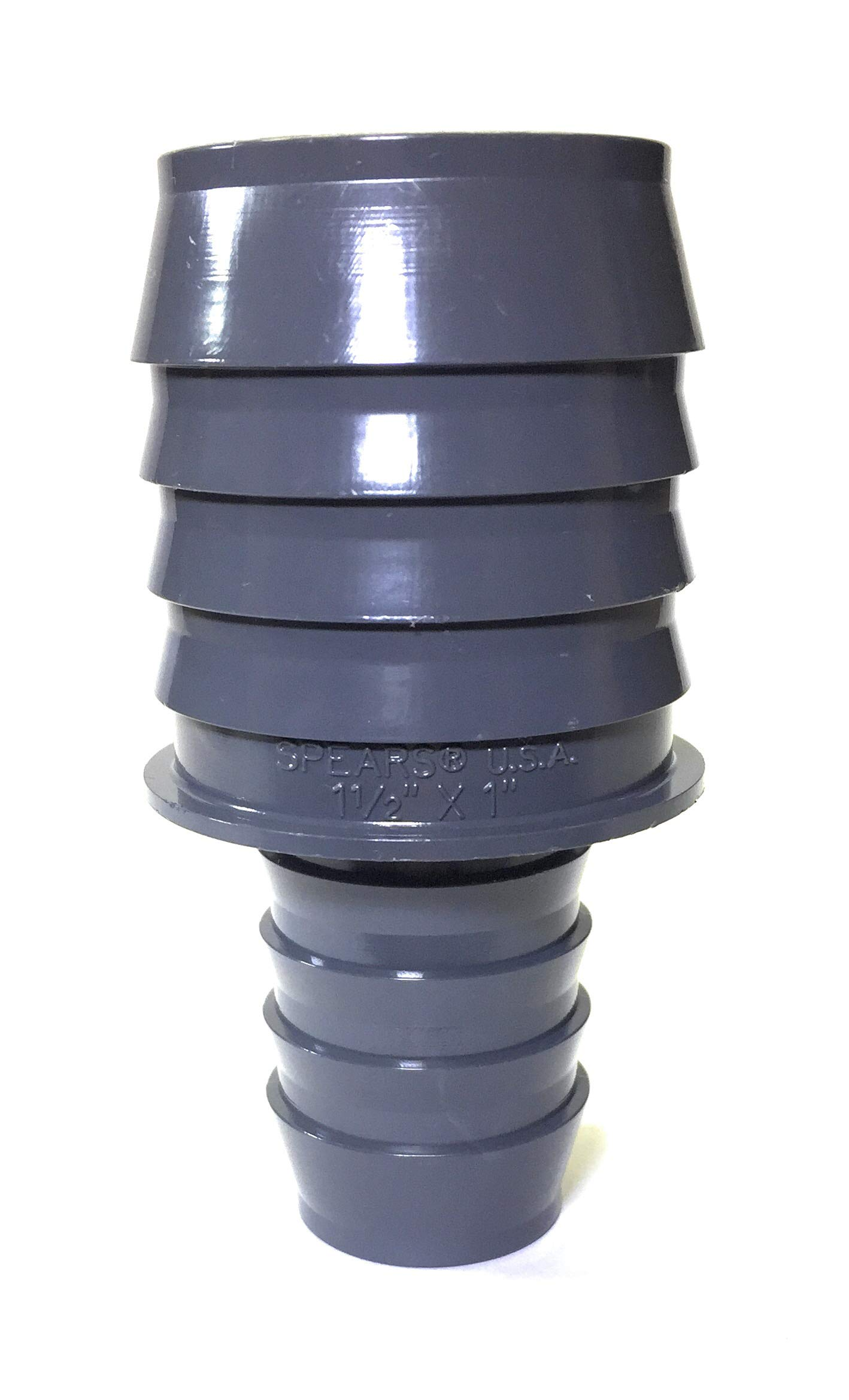 Schedule 40 Spears 1429 Series PVC Tube Fitting Coupling Gray 1 Barbed-New