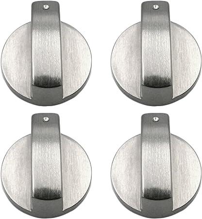 Quattro piani cottura STOVES FORNELLO FORNO//// KIT Manopola in argento con adattatori