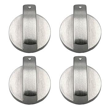 4 PCS Metal 8mm Universal Plata Cocina de gas Botones de control Adaptadores Horno Interruptor Cocina Control de superficie Cerraduras: Amazon.es: Hogar
