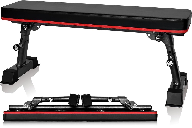 YouTen(ユーテン) フラットベンチ ダンベル 高さ調整可能 トレーニング 耐荷重300kg 折りたたみ式 折り畳み デクラインベンチ インクラインベンチ 筋トレベンチ トレーニングベンチ