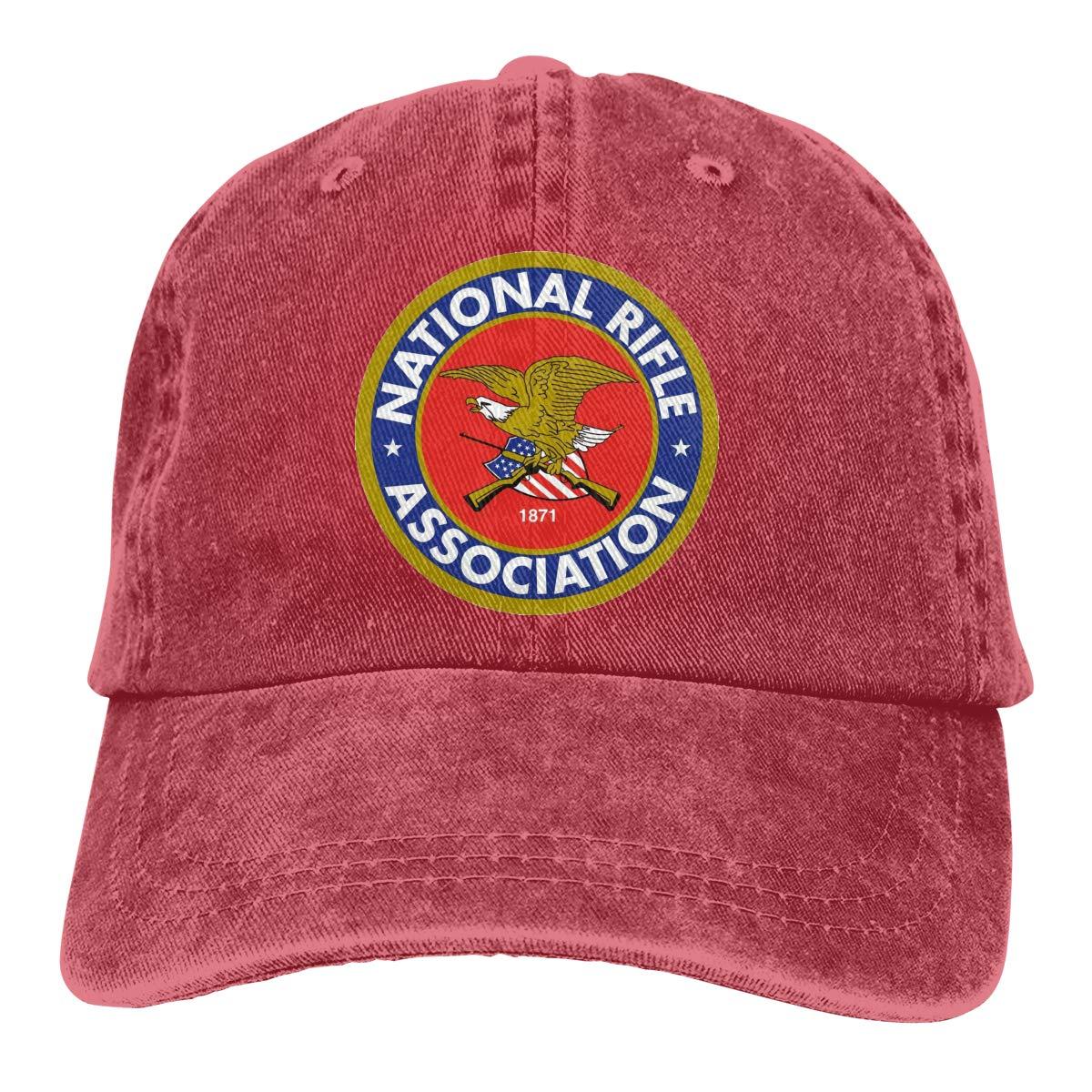 TBVS 77 Men Women Distressed Cotton Denim Baseball Cap NRA Life Member Plain Cap