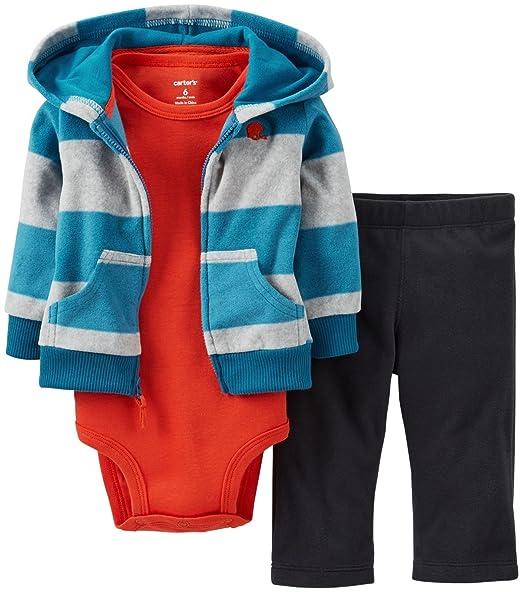 d101141e6e3c Amazon.com  Carter s Baby Boys  3 Piece Hooded Set (Baby) - Teal - 9 ...