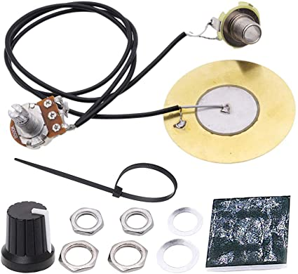 Amazon.com: AnFun Pickup Wiring Kit Electric Pickup Piezo 50mm Sensitive  Transducer Pickups Prewired Amplifier with 6.35mm Output Jack for Cigar Box  Guitar Violin Ukulele Banjo and Acoustic Instruments: Musical InstrumentsAmazon.com