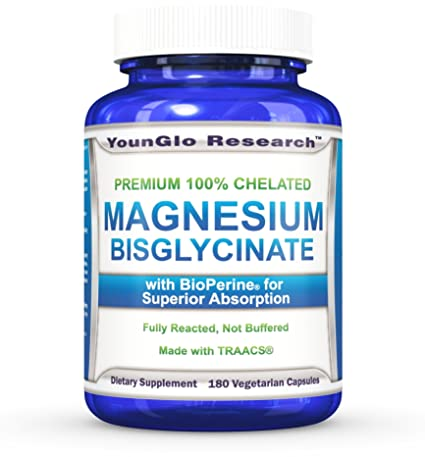 Amazon.com: Magnesium Glycinate Plus BioPerine - 180 Vegan Non-GMO Capsules - 100% Pure Chelated TRACCS High Absorption Bisglycinate (1 Pack): Health ...