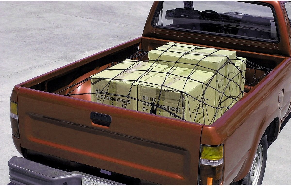 "Cargo Net with 16 Nylon Hooks 36"" X 60"" – Designed to Keep in Place and Secure Your Cargo On The Bed of The Vehicle Or On The Roof Rack – by Katzco"