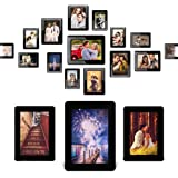 Magnetic Picture Frame for Refrigerator, Magnetic Photo Frame Holds 4 x 6'', 5 x 3.5'', 2.5 x 3.5'' Photos and Refrigerator Magnets, Black, 15 Pack